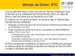 manejo de datos rtc