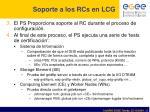 soporte a los rcs en lcg1