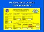 distribuci n de la nota pr ctica hospitalaria