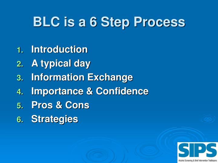 BLC is a 6 Step Process