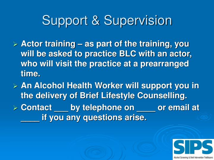Support & Supervision