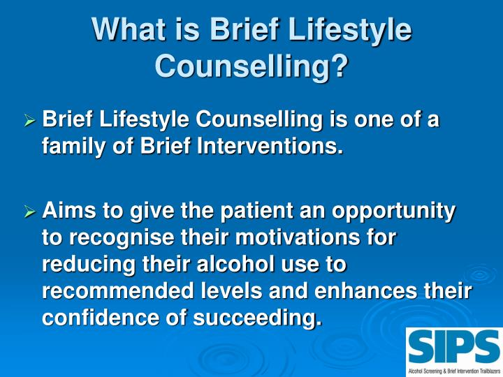 What is brief lifestyle counselling