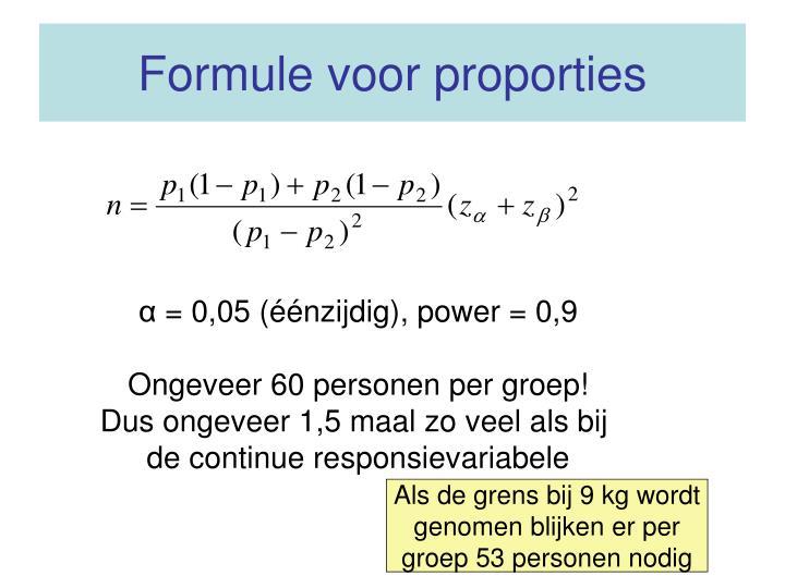 Formule voor proporties