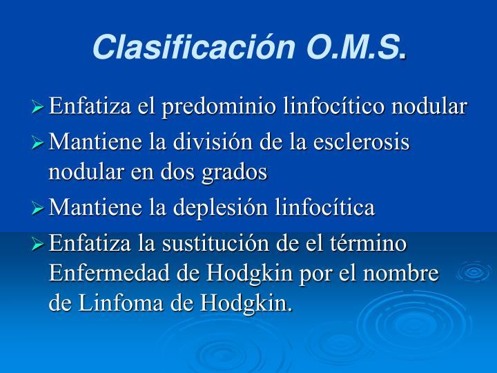 Clasificación O.M.S