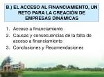 b el acceso al financiamiento un reto para la creaci n de empresas din micas