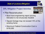 srl mitigation project activities