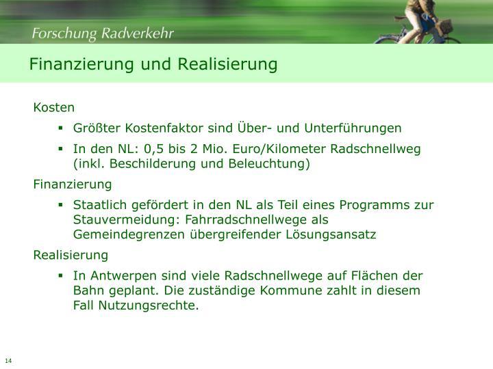 Finanzierung und Realisierung