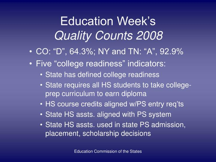 Education week s quality counts 2008