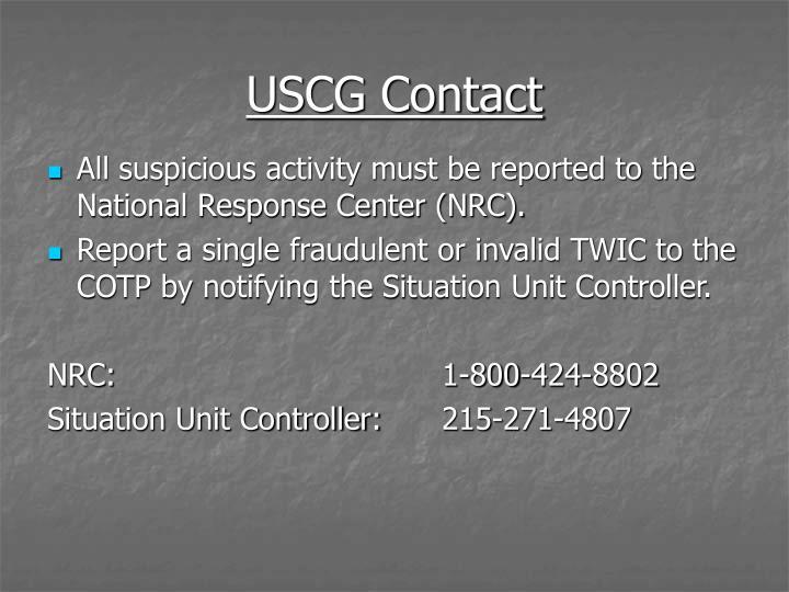 USCG Contact