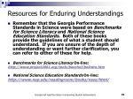 resources for enduring understandings