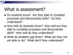 what is assessment1