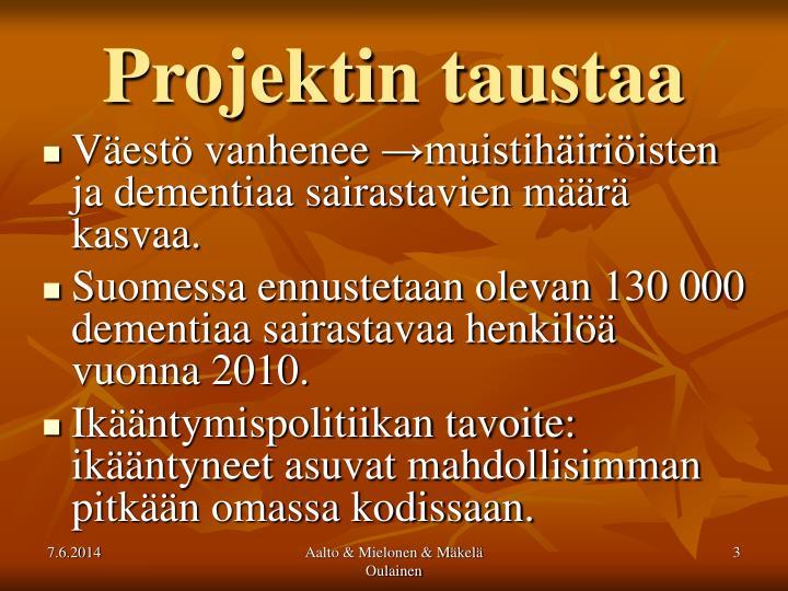 Projektin taustaa