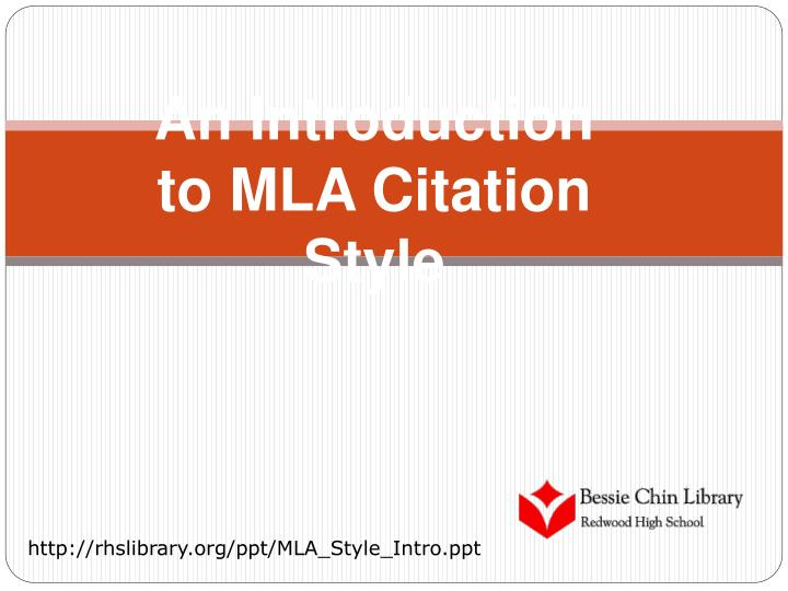an introduction to mla citation style n.