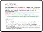 intro to mla citation citing web sites