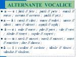 alternan e vocalice