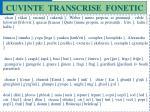 cuvinte transcrise fonetic