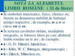 not la alfabetul limbii rom ne 31 de litere