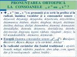pronun area ortoepic la consoanele z nu s