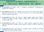 pronun area ortoepic la vocale identice n hiat