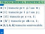 transcrierea fonetic 1
