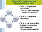 competitive advantage and competitive necessity