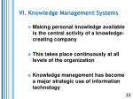 vi knowledge management systems