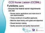 ccs nurse liaison ccsnl2