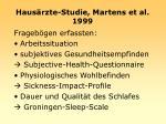 haus rzte studie martens et al 1999