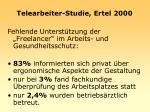telearbeiter studie ertel 2000