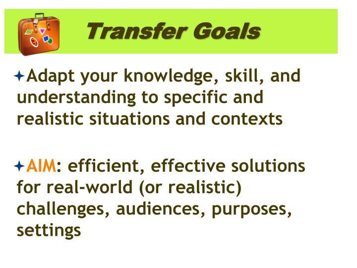Transfer Goals