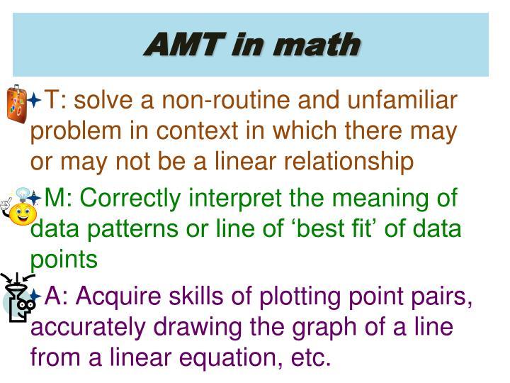 AMT in math