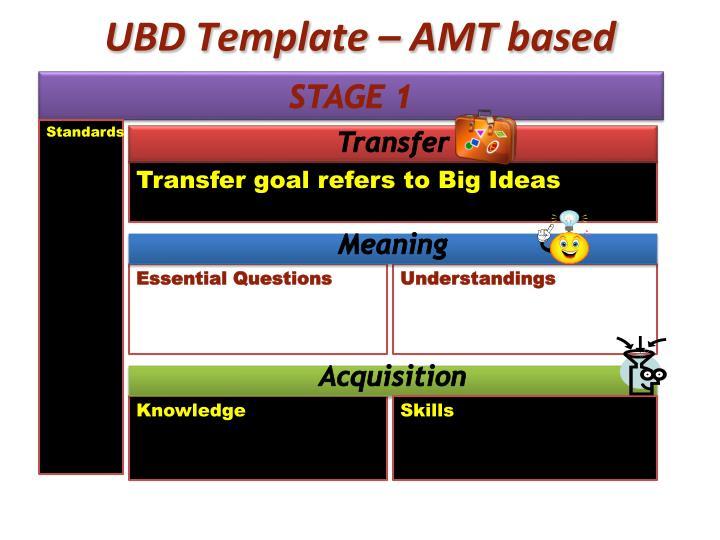 UBD Template – AMT based