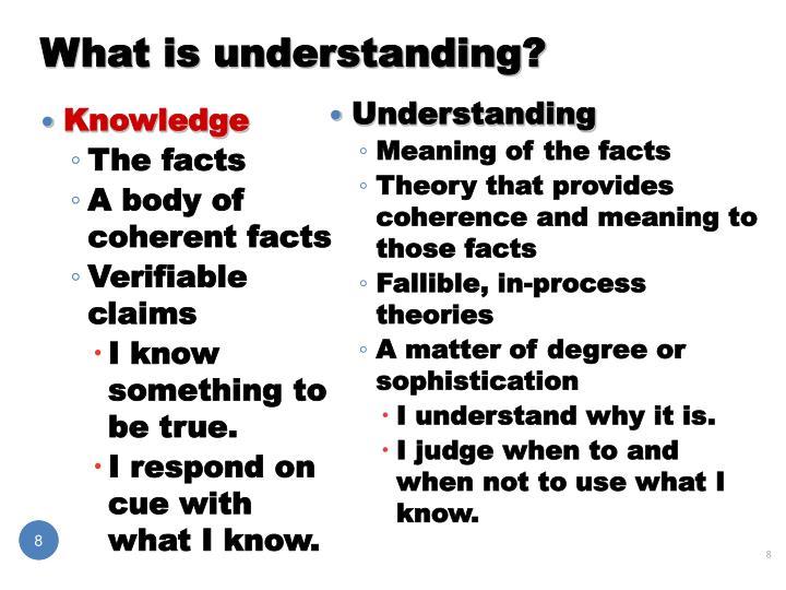 What is understanding?