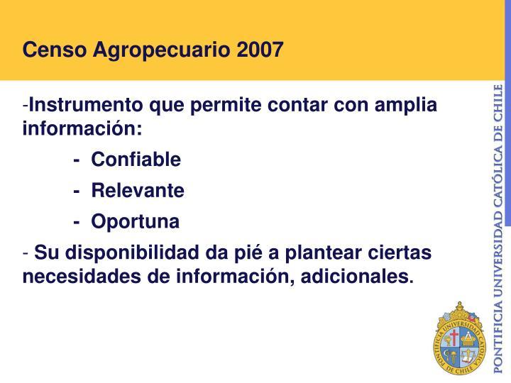 Censo agropecuario 2007