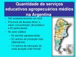 quantidade de servi os educativos agropecu rios m dios na argentina