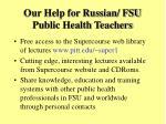 our help for russian fsu public health teachers
