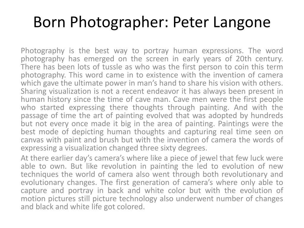 Born Photographer: Peter