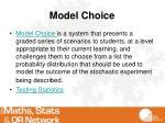 model choice
