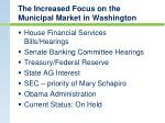 the increased focus on the municipal market in washington