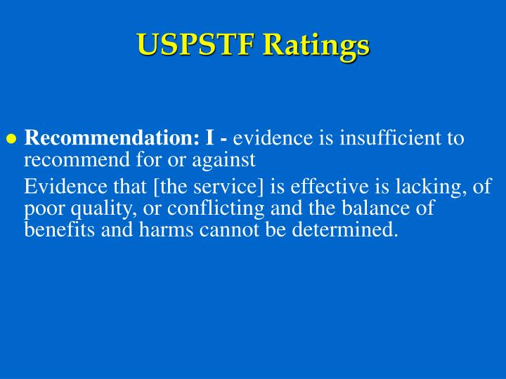 USPSTF Ratings
