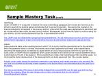 sample mastery task con t1