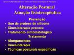 altera o postural atua o fisioterap utica