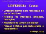 linfedema causas