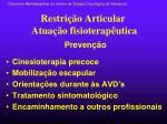 restri o articular atua o fisioterap utica
