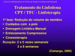 tratamento do linfedema cpt tfc linfoterapia