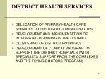 district health services