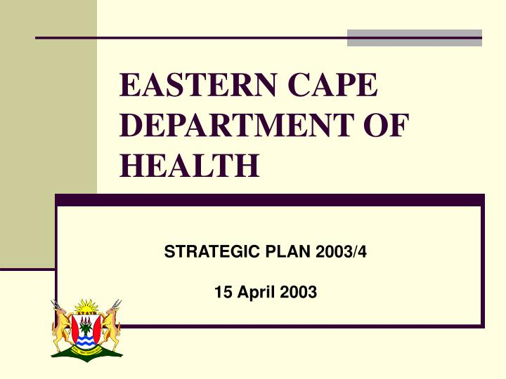 eastern cape department of health n.