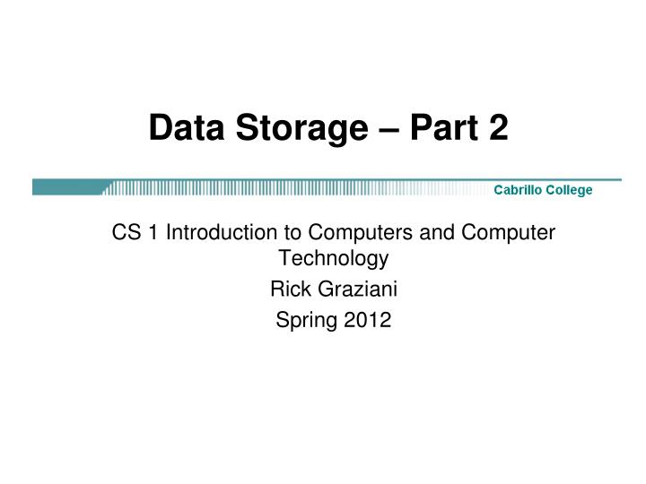 data storage part 2 n.