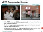 jpeg compression scheme