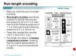 run length encoding